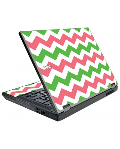 Green Pink Chevron Dell E5510 Laptop Skin