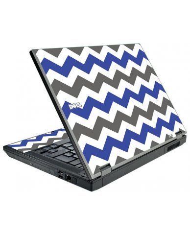 Grey Blue Chevron Dell E5510 Laptop Skin