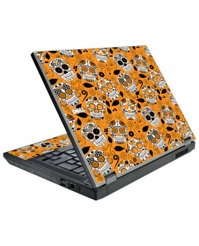 Orange Sugar Skulls Dell E5510 Laptop Skin