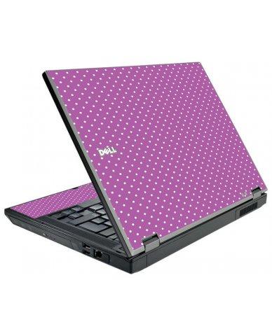 Purple Polka Dot Dell E5510 Laptop Skin