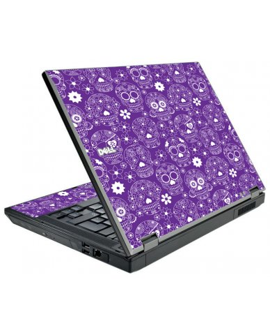 Purple Sugar Skulls Dell E5510 Laptop Skin