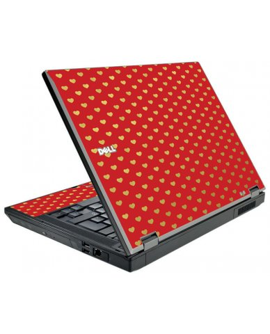 Red Gold Hearts Dell E5510 Laptop Skin