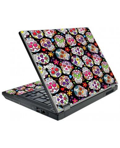 Sugar Skulls Black Flowers Dell E5510 Laptop Skin