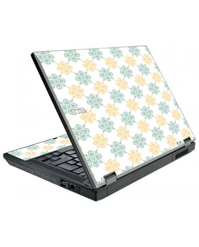 Yellow Green Flowers Dell E5510 Laptop Skin