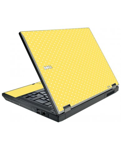 Yellow Polka Dot Dell E5510 Laptop Skin