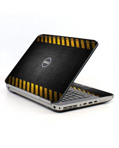 Black Caution Border Dell E5520 Laptop Skin