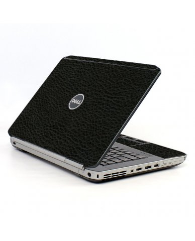 Black Leather Dell E5520 Laptop Skin