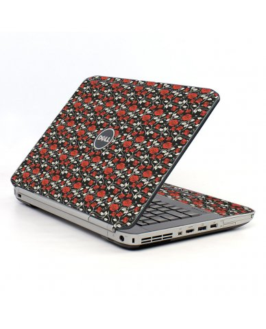 Black Red Roses Dell E5520 Laptop Skin