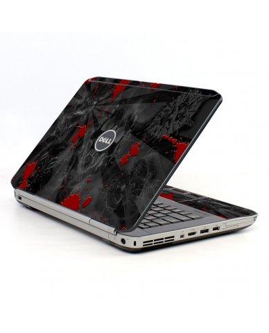 Black Skulls Red Dell E5520 Laptop Skin