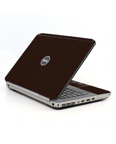 Brown Leather Dell E5520  Laptop  Skin