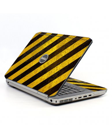 Caution Stripes Dell E5520 Laptop Skin