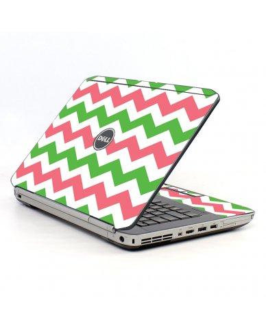 Green Pink Chevron Dell E5520 Laptop Skin