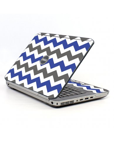 Grey Blue Chevron Dell E5520 Laptop Skin