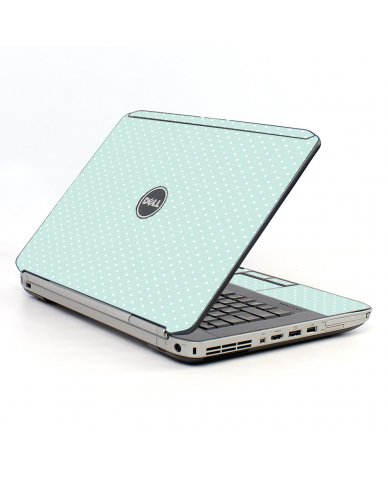 Light Blue Polka Dell E5520 Laptop Skin