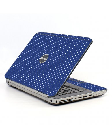 Navy Polka Dot Dell E5520 Laptop Skin