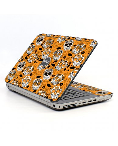 Orange Sugar Skulls Dell E5520 Laptop Skin