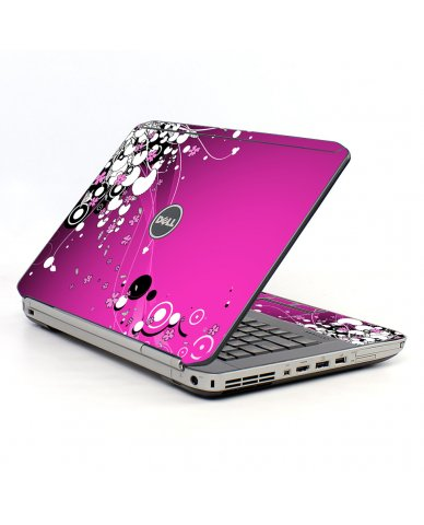 Pink Flowers Dell E5520 Laptop Skin