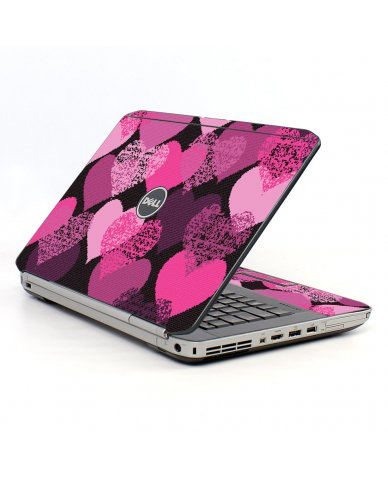 Pink Mosaic Hearts Dell E5520 Laptop Skin
