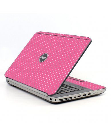 Pink Polka Dot Dell E5520 Laptop Skin