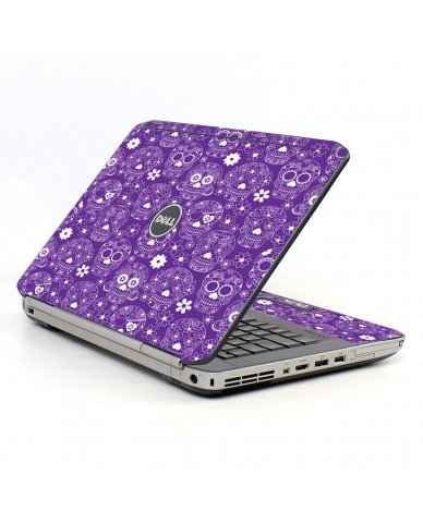Purple Sugar Skulls Dell E5520 Laptop Skin