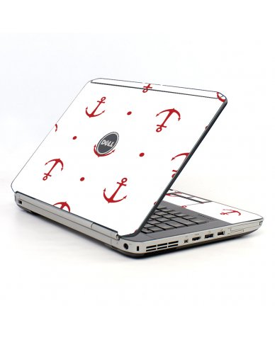 Red Anchors Dell E5520 Laptop Skin