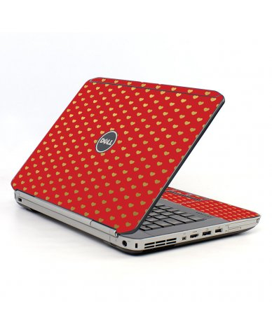 Red Gold Hearts Dell E5520 Laptop Skin