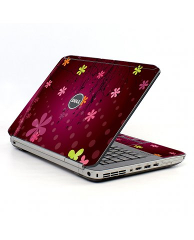 Retro Pink Flowers Dell E5520 Laptop Skin
