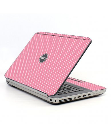 Retro Salmon Polka Dell E5520 Laptop Skin