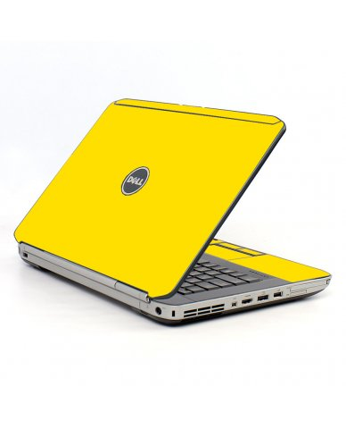 Yellow Dell E5520 Laptop Skin