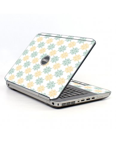 Yellow Green Flowers Dell E5520 Laptop Skin