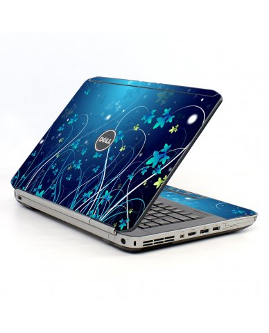 Blue Flowers Dell E5530 Laptop Skin
