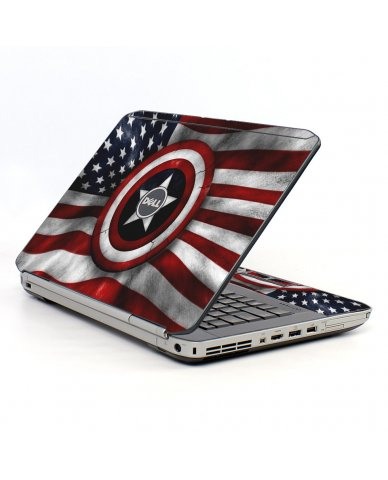 Capt America Flag Dell E5530 Laptop Skin