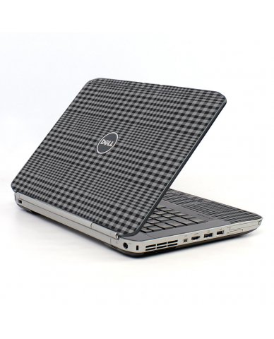 Darkest Grey Plaid Dell E5530 Laptop Skin