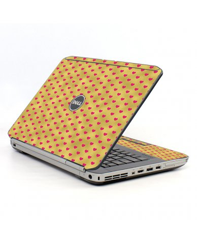 Gold Pink Hearts Dell E5530 Laptop Skin