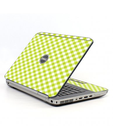 Green Checkered Dell E5530 Laptop Skin