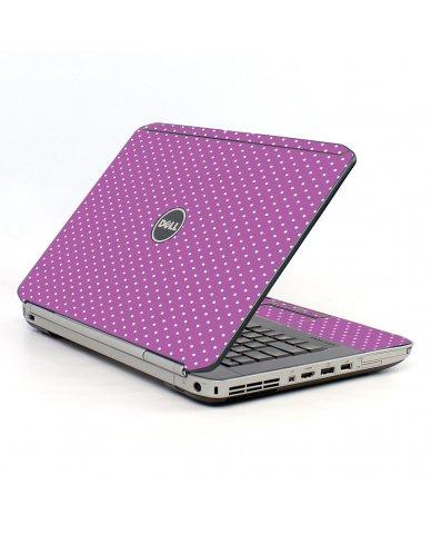 Purple Polka Dot Dell E5530 Laptop Skin