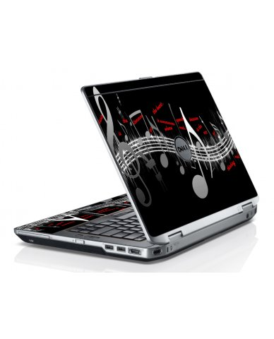 Music Notes Dell E6220 Laptop Skin