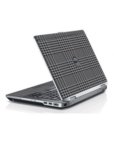 Darkest Grey Plaid Dell E6230 Laptop Skin