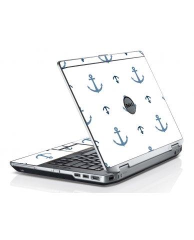 Multi Blue Anchors Dell E6230 Laptop Skin
