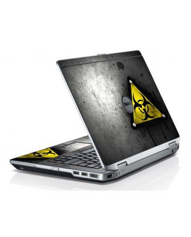 Black Caution Dell E6320 Laptop Skin