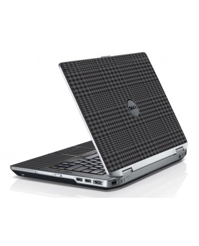 Black Plaid Dell E6320 Laptop Skin