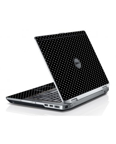 Black Polka Dots Dell E6320 Laptop Skin
