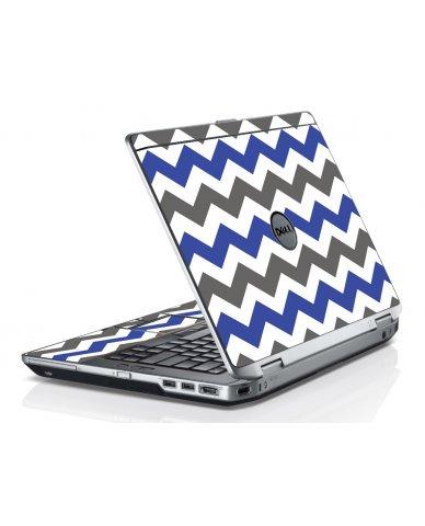 Grey Blue Chevron Dell E6320 Laptop Skin