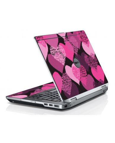 Pink Mosaic Hearts Dell E6320 Laptop Skin