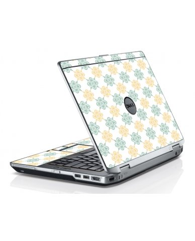 Yellow Green Flowers Dell E6330 Laptop Skin