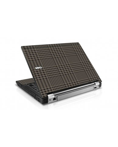 Beige Plaid Dell E6400 Laptop Skin