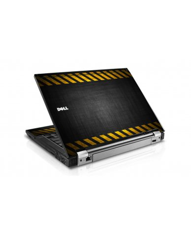 Black Caution Border Dell E6400 Laptop Skin