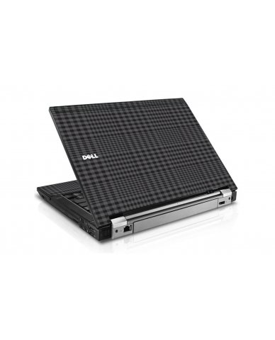 Black Plaid Dell E6400 Laptop Skin