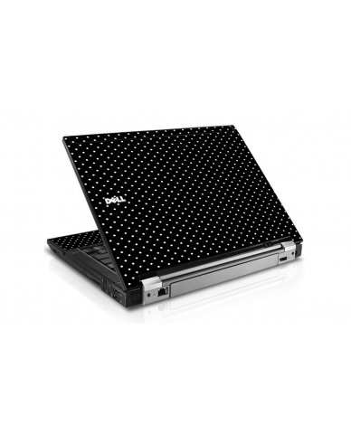 Black Polka Dots Dell E6400 Laptop Skin