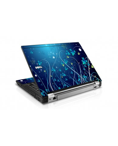 Blue Flowers Dell E6400 Laptop Skin